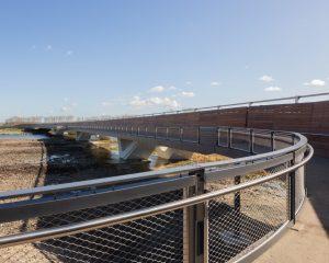 Bridge Balustrade System with Jakob Webnet Mesh Panels