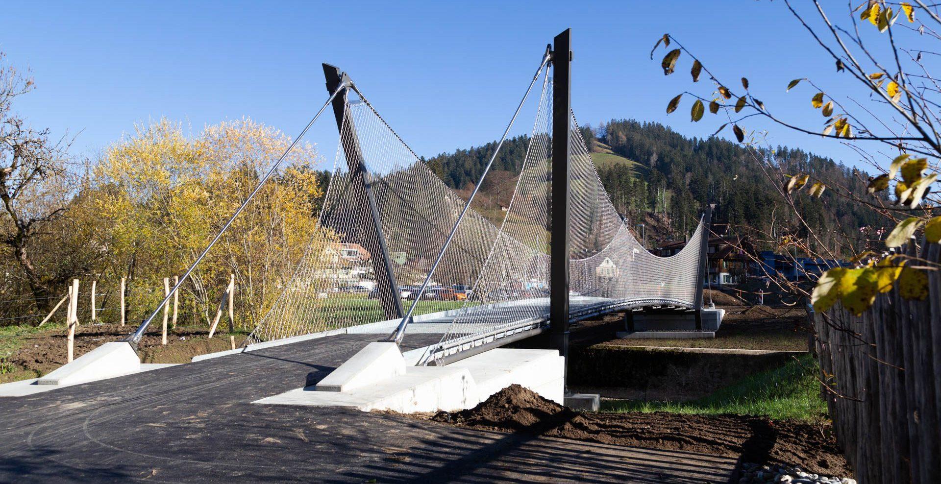 <<The Himmelhaus bridge over the river Trub in Trubschachen>>