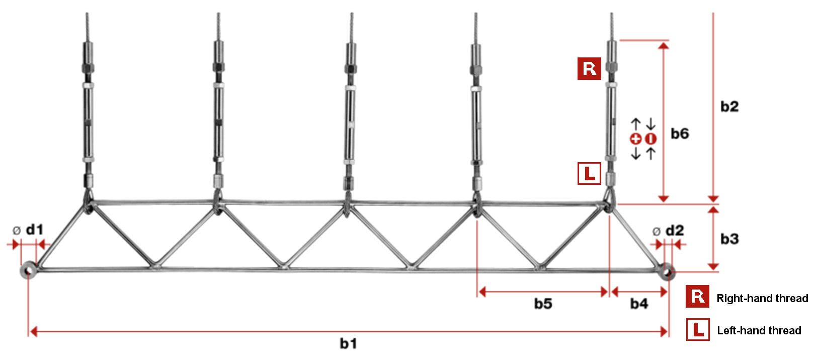 Greenguide Trellis Works with Swaged Loops Kit 1 (With 3 Vertical Wires) bottom frame measurements