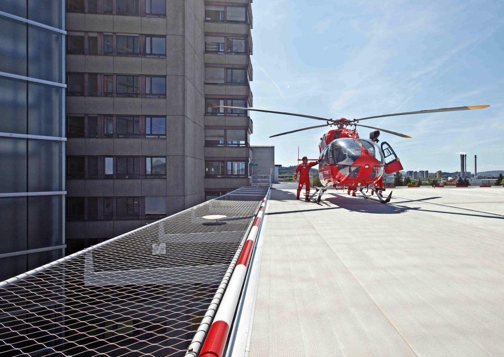 Webnet Safety Net At New Rescue Helicopter Landing Pad In Bern