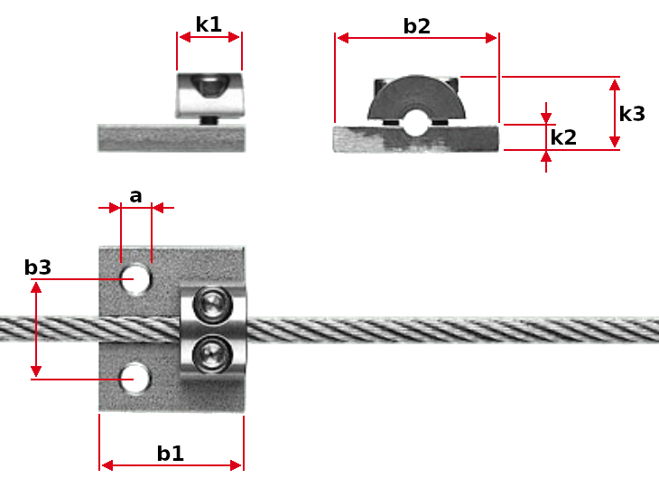 Jakob Connecting Wire Rope Clamp