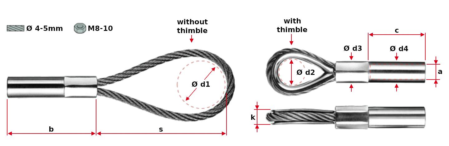 Jakob compressed loop with internal thread