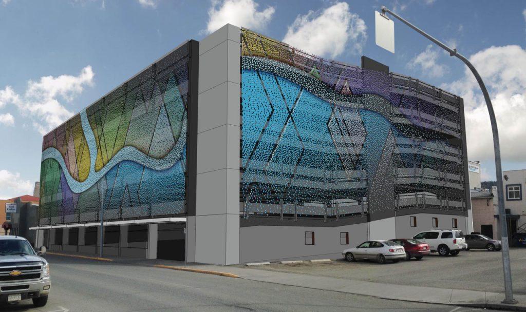 Lansdowne Car Park Kamloops rendering Webnet Id Canada
