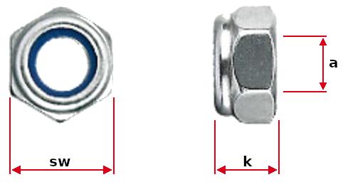 Lock Nuts Dimensions