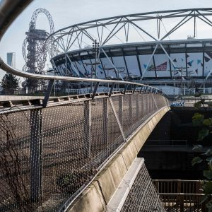 Webnet Balustrade Infill at the Queen Elizabeth Olympic Park