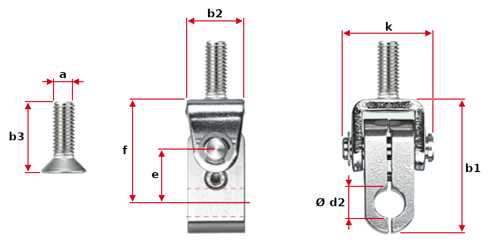 Rod Holder with U Mount Dimensions
