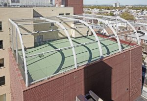 Safety Net for Rooftop Space Using Jakob Webnet Mesh