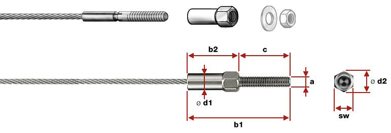 Screwed External Thread LT2