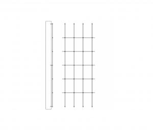 Steel trellis for garden 1m Width 2m to 3m height Jakob