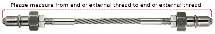 VS8 Hex-end Swivel Sleeve with Internal Thread End and M5 External Threads for 4mm Rope