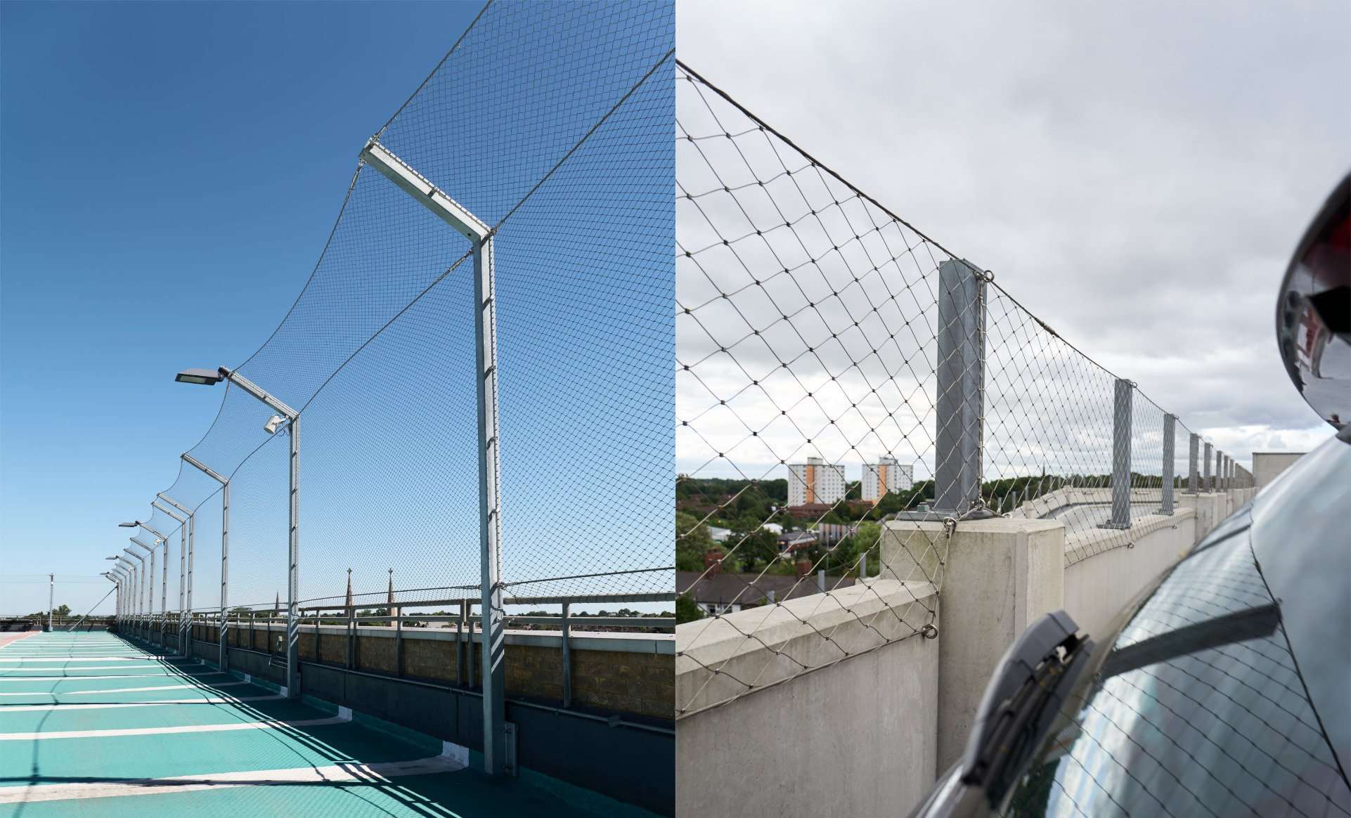 Wire Mesh Fence for Car Park Safety Jakob Webnet Mesh